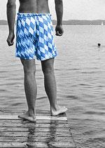 Postkarte: Bayern geht baden.