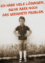 Postkarte: Ich habe viele Lösungen,