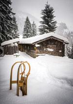 Postkarte: Schneepause
