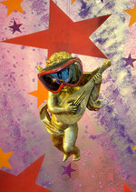 Postkarte: Wir rocken das Christkind