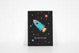 Postkarte Rakete Hoch sollst du leben