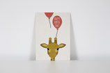 Postkarte Giraffe Happy Birthday