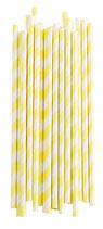 Papierstrohhalme gelb gestreift