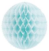 Wabenball hellblau Mini mit Wellenrand