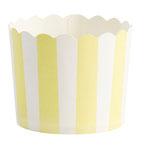 Cupcake Förmchen gelb gestreift mit Wellenrand