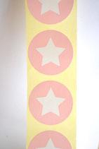 10 Stück Aufkleber Stern rosa