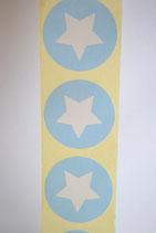10 Stück Aufkleber Stern hellblau