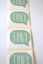 10 Stück Aufkleber THNX mint