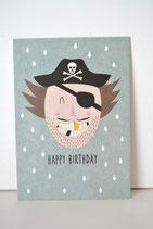 Postkarte Pirat