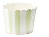 Cupcake Förmchen hellgrün gestreift mit Wellenrand