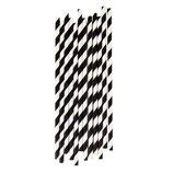 Papierstrohhalme schwarze Streifen
