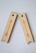 1 Stück Anhänger Holz Pfeil