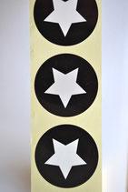 10 Stück Aufkleber Stern schwarz