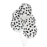 Bedruckte Konfetti Ballons schwarz