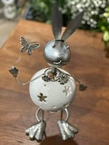 Photophore lapin en céramique et métal