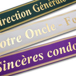 Ruban de deuil pour pièces florales funéraires