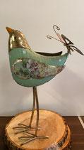 Oiseau Printemps métal décoré