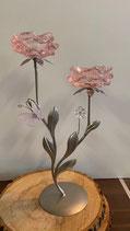 Bougeoir double 2 fleurs