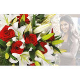 Bouquet Surprise du fleuriste ROUGE & BLANC