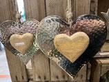 Joli coeur alu & bois manguier