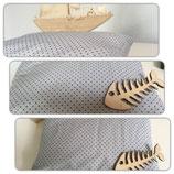 Arvenkissen Rechteckig mit Baumwollbezug. 20 cm x 30 cm