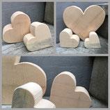 Arvenholz Herz klein, ca 10 cm (ca 100 gr)