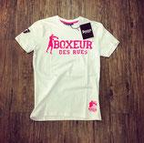 Boxeur des rues T-Shirt weiss/pink
