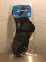 Socken black Doppelpack halblang