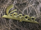 Vespa Aufnäher Schriftzug grün
