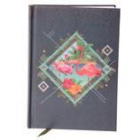 Notizbuch A6 Flamingo &  Kolibrie Design fester Einband