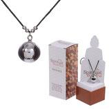 Spiritual Buddha Halskette mit Metallkugel