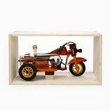 Holzmotorrad mit Glastank 0,2L