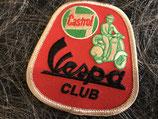Vespa Aufnäher Vespa Club Castrol