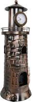 Flaschenhalter+Uhr Leuchtturm