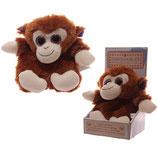 Kuscheltier Wärmetier für die Mikrowelle Affe