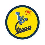 VESPA RUNDES BLECH-REKLAMESCHILD - GELB