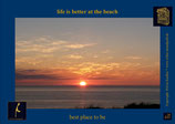 Holzpostkarte: Sylt Sunset Westerland