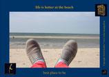 Holzpostkarte: Lazy beachday