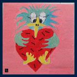Wandfliese: Bedruckte Kacheln - Schnubbi in love
