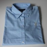 Damen Bluse * Langarm * hellblau * Größe: 44 * mit Goldstickerei: Sylt