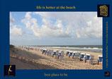 Holzpostkarte: Beach