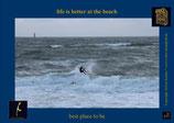 Holzpostkarte: Surfer