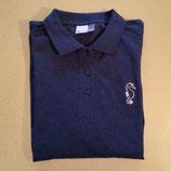 Damen Poloshirt * dunkelblau * Promodoro * 100 % Baumwolle * Größe: XL *Langarm * mit Goldstickerei: Seepferdchen