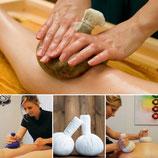 Massage Ayurvédique aux pochons d'herbes relaxantes du corps - 1h15