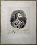 Portrait de Léon Gambetta, signé
