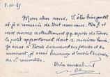 Paul Claudel : carte autographe signée