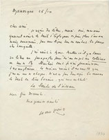 Jean Giono lettre autographe signée
