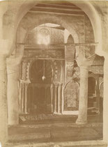 Tunisie, Kairouan : mosquée Sidi Okba, vers 1880 (Intérieur aux colonnes)