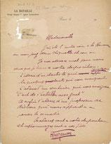 Henri Jeanson, 2 lettres autographes signées