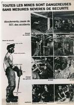 Exposition, graphisme, plan Marshall, France, 1950, mines et mineurs